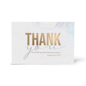 Gray Robin Thank You Cards